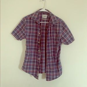 Men's Short Sleeve Button Down Shirt, Size S